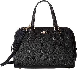 COACH Crossgrain Nolita Satchel Bag for Women, Leather - Black
