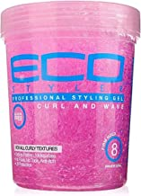 Eco Style Professional Styling Gel- Curl & Wave (Alcohol Free) Firm Hold 32-OZ
