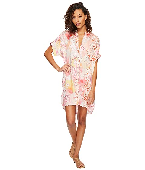 Shirtdress Echo Design Cover Seaside Coral Up Floral wqHq8B