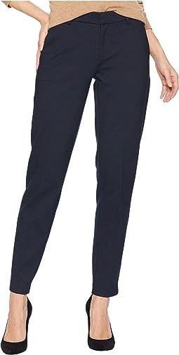 Kelsey Slim Leg Trousers in Birds Eye Print Ponte Knit