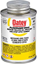 Oatey 31910 1-Step All-Weather Solvent Cement, 4-Ounce, Gold