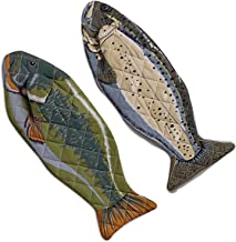 DII 100% Cotton, Machine Washable, Heat Resistant, Everyday Kitchen Basic, Lake House Oven Mitts, 6 X 16.5, Set of 2, Fish