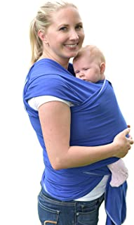 Haul'A Baby 4-in-1 - Baby Wrap - Ring Sling - Maternity Belt & Belly Binder (Blue)