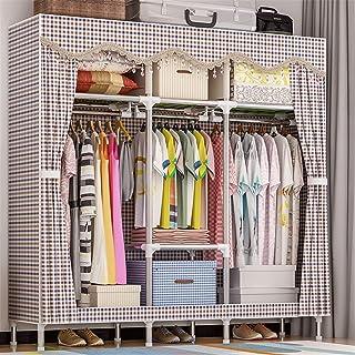 NEHARO Armoire en Tissu Penderie de vêtements Portables, Armoire en Tissu en Tissu Oxford avec 3 tiges suspendues, 7 étagè...