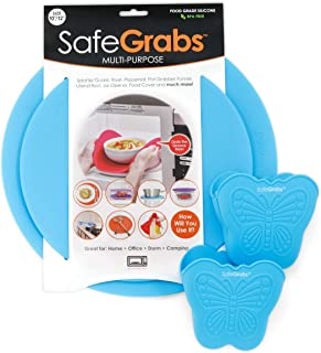 Safe Grabs Safe Pack Bundle: Original Multi-Purpose Silicone Microwave Mat + NEW Butterfly Mitts | As Seen on Shark Tank, ...