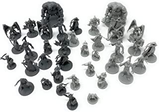 38 Miniatures Fantasy Tabletop RPG Figures for Dungeons and Dragons, Pathfinder Roleplaying Games. 28MM Scaled Miniatures,...