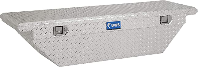 UWS EC10291 63-Inch Heavy-Wall Aluminum Angled Truck Tool Box with Low Profile, RigidCore Lid