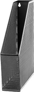 U Brands Mesh Steel Magazine File Holder, Desktop Accessory, Black (452U00-12)