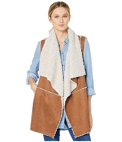 Miss Me Faux Shearling Vest (Brown) Women