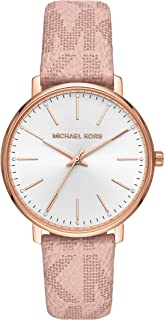 Michael Kors Pyper Women's White Dial Leather Analog Watch - MK2859