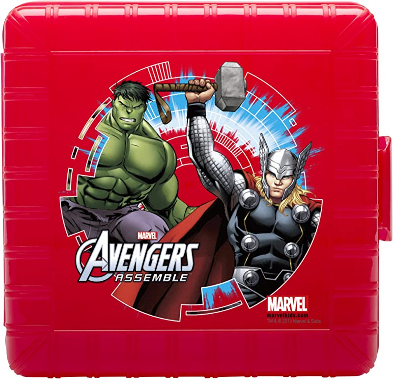 Zak Designs GoPak Lunch Box Divided Food Storage Container Featuring Avengers Graphics Break Resistant And BPA Free Plastic