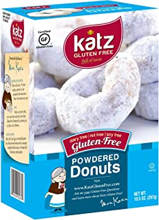 Katz Gluten Free Powdered Donuts Dairy, Nut, Soy, and Gluten Free Kosher (1 Pack of 6 Donuts),10.5 Ounce
