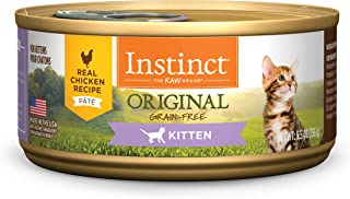 Instinct Original Kitten Grain Free Real Chicken Recipe Natural Wet Canned Cat Food by Nature's Variety, 5.5 oz. Cans (Cas...