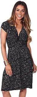 Womens Fashion Cap Sleeves V-Neck Floral Pattern Summer Dress US 4-14