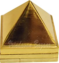 VRINDAVANBAZAAR.COM Metal Pyramid, 3 Layer, 3 inch in Size with 91 Pyramids for Vastu and Feng Shui