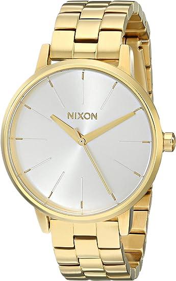 Nixon Kensington A099. 100 m Resistente al Agua Reloj de Mujer (37 mm, Correa de Acero Inoxidable de 16 mm)