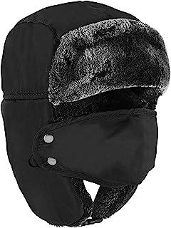 قناع وجه شتوي للرجال - قبعة على الطراز الروسي أوشانكا، تروبر، قبعات الصياد للرجال والنساء - قناع تزلج مقاوم للرياح