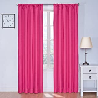 """Best ECLIPSE Kendall Solid Blackout Window Curtains for Bedroom (Single Panel), 42"""" x 63"""", Raspberry Review"""