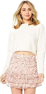 Bardot Women's Cropped Fluffy Knit