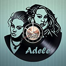 Adele Vinyl Record Wall Clock Poster - Vintage Home Decor Kitchen Bedroom Living Room Office - Unique Handmade Gift for Men Woman Friends Boys