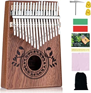 Scorina Kalimba 17 Keys Kalimba Thumb Piano,With Study Instruction And Tune Hammer(Christmas New Design),Best Christmas' Gifts For Adult,Kids And Beginners