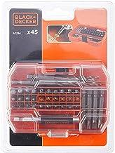 Black & Decker 45-częściowy zestaw bitów i wierteł (składający się z 6 wierteł sześciokątnych HSS, 30 bitów wkrętakowych 2...