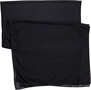 Stay On Satin Anti Breakage Wrapping Scarf, Black, 3 Pack