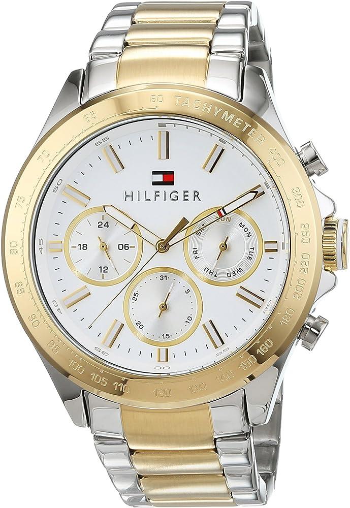 Tommy hilfiger, orologio da uomo,in acciaio inossidabile bicolore 1791226