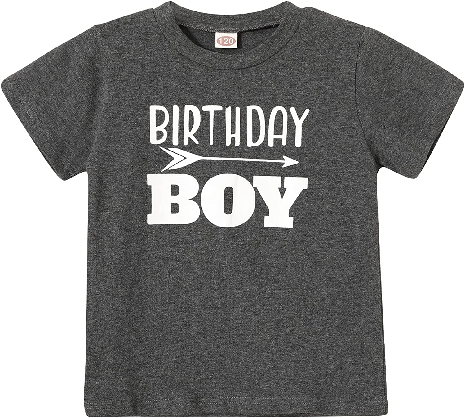 Birthday boy Shirt Toddler Boys Charcoal Black Outfit First 2t 3t 4t 5 Year Old