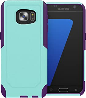 Galaxy S7 Edge Case, ToughBox [Commute Series] [ SHOCKPROOF ] [ SLIM ] [ RUGGED ] [ Turquiose   Purple ] for Samsung Galaxy S7 Edge Case [Fits OtterBox Defender & Commuter Series Clip]