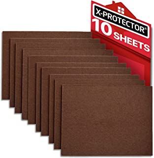 "Felt Furniture Pads X-PROTECTOR 10 Pack Premium 8""x6"" Heavy Duty 1/5"" Felt Sheets! Cut Furniture Felt Pads for Furniture Feet You Need – Best Furniture Pads for Hardwood Floors!"