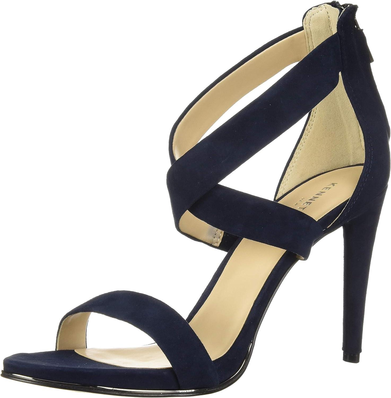 Kenneth Cole New York Womens Brooke Cross Strap Dress Sandal Heeled Sandal