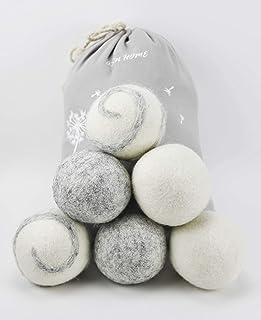 ASN Store Wool Dryer Balls Lot de 6 balles pour sèche-linge et doudoune sans substances nocives et sans danger pour les an...