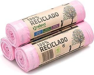 Relevo 100% Recycled Scented Bin Liners, Heavy Duty 30L, 45 Bin Bags