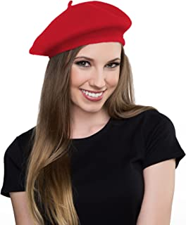 Wool Red Beret Hat- French Beret