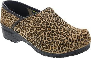 Bjork Professional Safari Collection Leather Clogs in Leopard