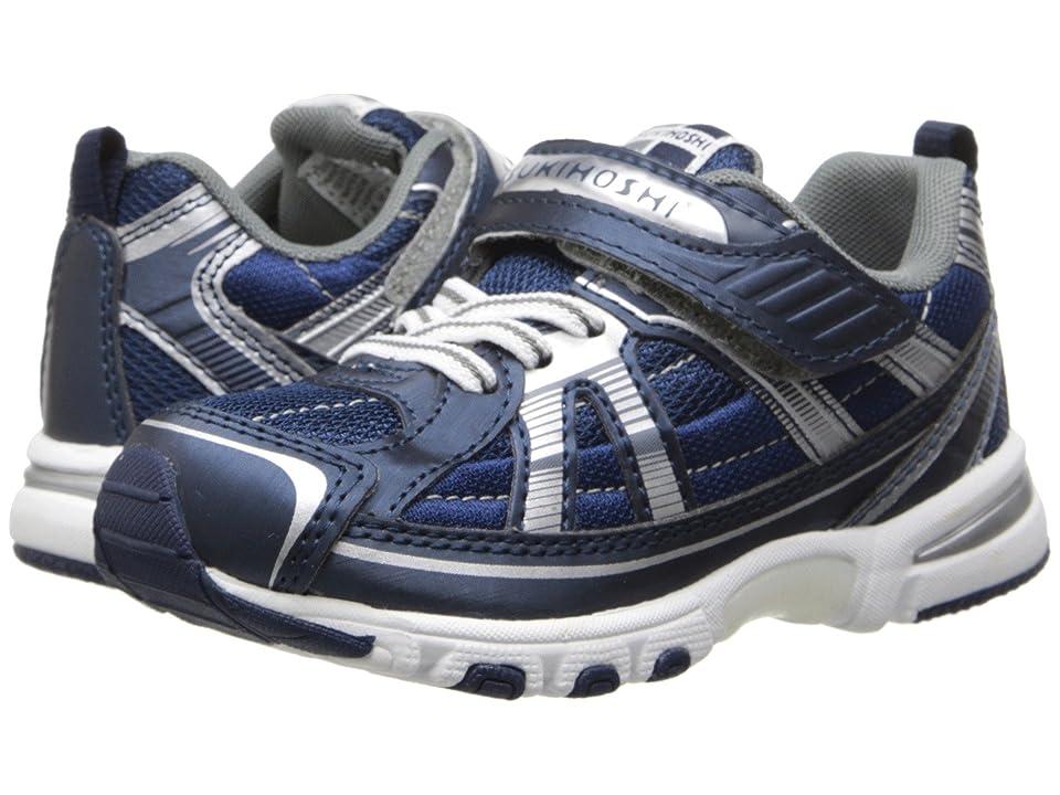 Tsukihoshi Kids Storm (Toddler/Little Kid) (Navy/Silver) Boys Shoes