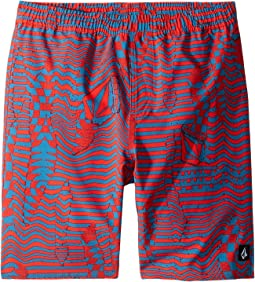Logo Shifter Volley Boardshorts (Little Kids/Big Kids)