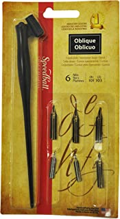 Speedball Art Products Oblique Pen Set, Black