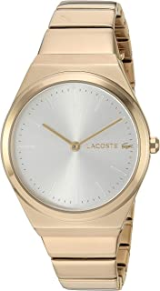 Lacoste Women's Mia Quartz Watch with Stainless-Steel Strap, Yellow, 14.5 (Model: 2001056)