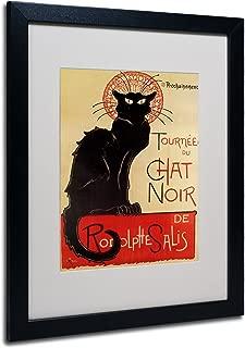 Theophile Steinlen Tournee du Chat Noir Framed Matted Canvas Art, 16 by 20-Inch, Black