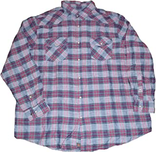 Northwest Big & Tall Mens Territory Plaid Western Shirt