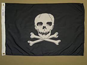 product image for Annin Flagmakers 379370 Jolly Roger 2x3 ft. Nylon Dyed Design Flag, 100% Made in USA