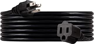 UltraPro, Black, GE 15 ft Extension, Double Insulated Cord, Indoor/Outdoor, UL Listed, 36824, 15 ft, 15 Ft