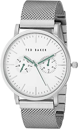 Ted Baker - Smart Casual Collection Custom Multifunction Sub-Eye w/ Contrast Detail Date Mesh Bracelet Watch