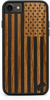 CaseYard iPhone 8/7 Case, Premium Hybrid Case for Apple iPhone 8/7 Made in California (iPhone 8/7 Regular-Protective) (Black) American Flag