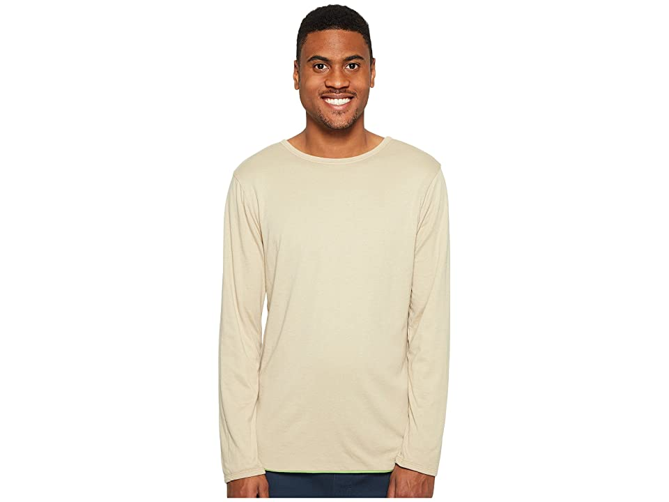 Image of 4Ward Clothing Four-Way Reversible Long Sleeve Jersey Tee (Oatmeal/Greenery) Boy's Sweater