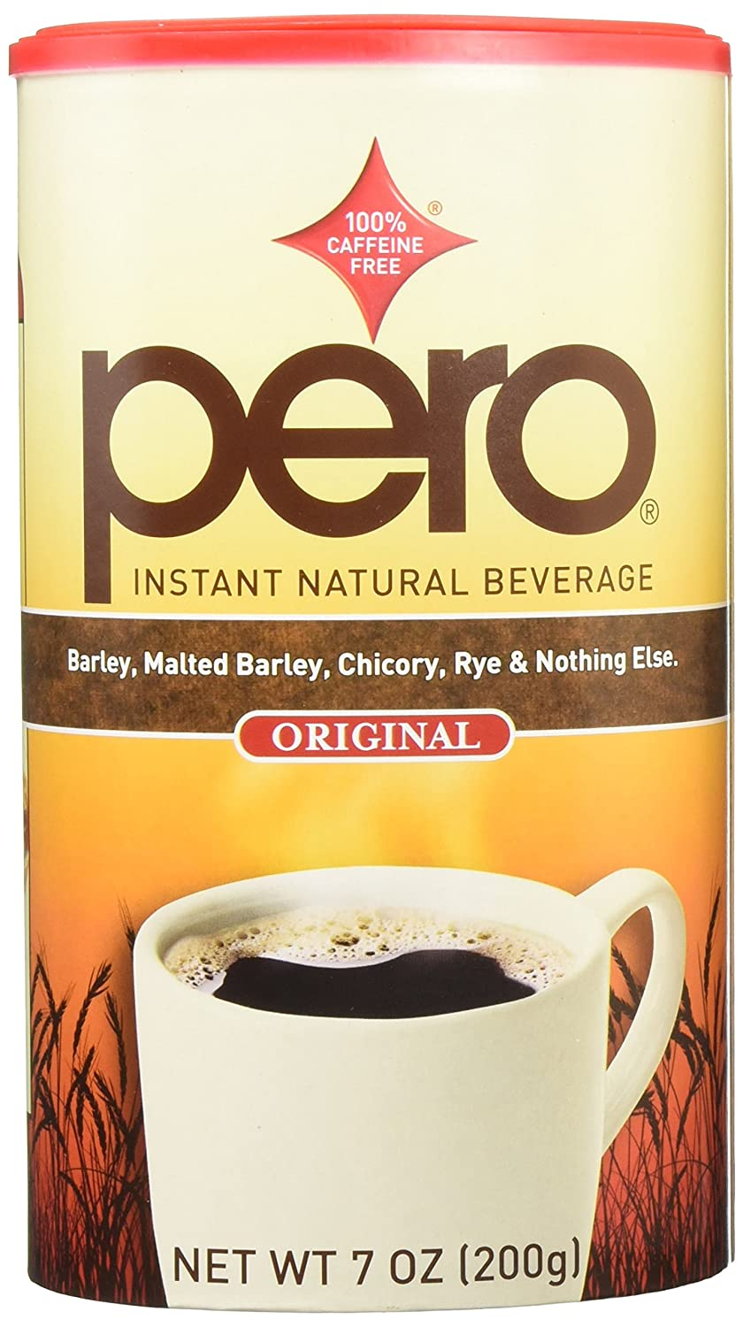 Pero 6 Piece Instant Natural Beverage 7-Ounce Canisters, 3.6 Pound