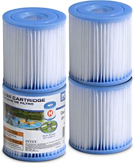 SEWANTA Pool Filter Cartridges - [Set of 4] Intex Cartridge Filter Type H for Intex Pool Filter Pumps - Bundled with (2)