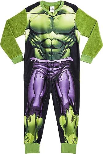 Marvel Onesie para Niños   Mono Infantil con Personajes Hulk Y Avengers Onesie Pijama para Niños   Mono Pijama Todo E...